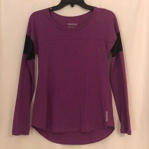 Womens XS Reebok purple long sleeve exercise top